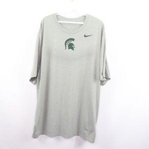 Nike Mens 2XL Dri Fit Michigan State T Shirt Gray